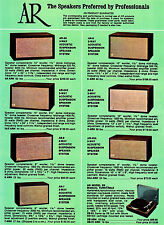 1960s AR Speaker Products Advertising Poster  11 x 17 Giclee print