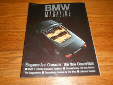 BMW CAR OWNER'S 100 p. MAGAZINE Vol. 1 No. 2 / 3 SERIES CONVERTIBLE, R 1100 RS +