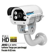 Telecamera lettura targa AHD 2.0 MPX  videosorveglianza telecamere CMOS Sony