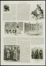 1889 Antiguo Print-Irán Teherán Palace Theatre Mushir I dowlah (175)