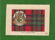 MACINTOSH MACKINTOSH CLAN TARTAN 1922 original printed on silk with Coat of Arms