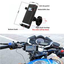 Adjustable Motorcycle Handlebar Mount Cradle Holder USB Charger For Smart Phone