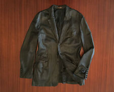 Paul Smith Made In Italy Super Soft Leather Jacket Blazer Black Men's S M