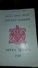 Job lot of 10 Royal Opera House Programmes - Collectable