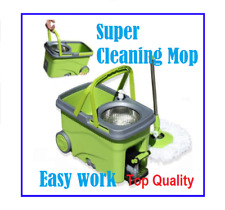 New Spin Mop 360° Spinning Stainless Steel Spin Bucket Walkable Top Quality