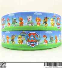 1 METRE NEW BLUE PAW PATROL RIBBON SIZE 1 INCH BOWS HEADBANDS CARD MAKING