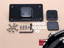 Black Laydown Tilt License Plate Frame Mount for Harley Sportster Dyna Softail