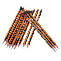 Pencils With Eraser Tops - HB Graphite Triangle Wood Pencil School Supply