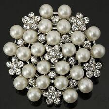LC _ Perlas Diamantes De Imitación & Imitacion Color Plata flor cristal Aleación