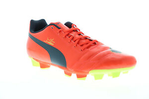 Puma EvoPower 4 FG 10295301 Mens Orange Low Top Athletic Soccer Cleats Shoes