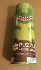 Petit Collage Dinosaur 64 Piece Tin Canister Puzzle and Coin Bank