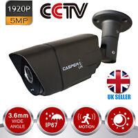 5MP HD OUTDOOR CCTV BULLET CAMERA 1920P AHD TVI CVI 3.6MM 30M IR NIGHT VISION UK