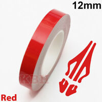 "12mm Self Adhesive Coachline Pin Stripe Vinyl Tape Craft Decal Sticker 1/2"" RED"