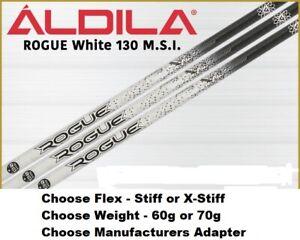 Aldila Rogue White 130MSI Driver Shaft - Choose Adapter