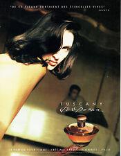 Publicité Advertising 117  1993   Aramis  parfum femme  Tuscany par Donna
