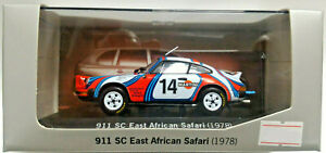 MINICHAMPS 1:43 DIE CAST - AUTO PORSCHE 911 SC EAST AFRICAN SAFARI 1978 WAP C20