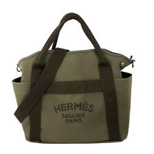 Hermes Sacked Panther Canvas Increments Ghana Orange Brown System Silver