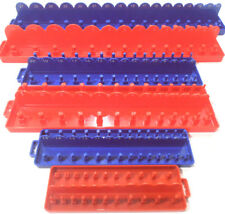 "Set 1/4"" 3/8"" 1/2"" Drive Socket HOLDER Tray Holder Organizer Standard Wall Mount"