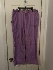 Koi Women's Lindsey Drawstring Elastic Scrub Pants Purple Size Large