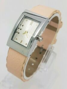 LADIES NEXT PINK LEATHER WRIST WATCH **NEW BATTERY** (P)