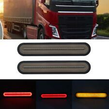 2x 28-LED Truck Trailer Waterproof Tail Light Red-Amber Brake Lighting Turn Lamp