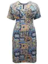 Geometric Viscose Casual Plus Size Dresses for Women