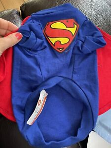 Cute Superdog Costume And Bow Tie Shirt Size Xs Fit Puppy/chihuaua