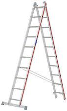 Mehrzweckleiter 2x10 Spr. L2,88-4,84m Steh- Schiebe- Anlegeleiter Hymer 404520