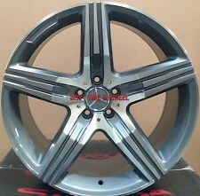 """20"""" Wheels & Tires Gunmetal Stagger Rims Fits Mercedes S Class S550 S65 AMG S500"""
