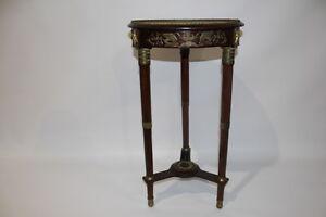 19th Century Louis XVI French Empire Mahogany Gueridon Gilt Brass Mounts