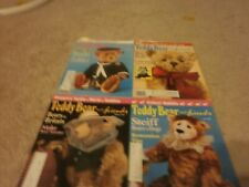 4 VINTAGE Teddy Bear  and friends 1992  feb,apr,jun,oct  120 pages