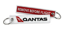 Qantas Remove Before Flight Keychain X 2