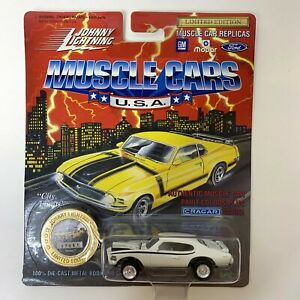 Johnny Lightning 1969 GTO Judge Muscle Cars USA Die Cast White Black NEW