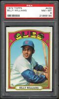 1972 TOPPS #439 BILLY WILLIAMS HOF CHICAGO CUBS PSA 8 NM/MT