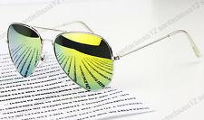Classic Pilot Sunglasses Metal Frame Mirror Lenses  UV400 Womens Mens