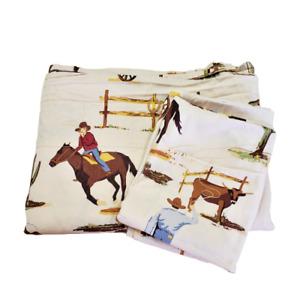Sweet Jojo Designs Wild West Cowboy Twin Flat Sheet Pillow Case Western Bedding