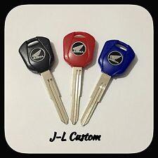 99-15 Blank Keys Uncut Honda CBR1000RR 1100XX CBR600RR F4 Red,Blue & Black. Set