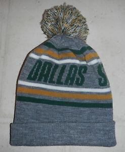 NWOT Dallas Stars NHL Texas Hockey Gray Knit Winter Beanie Skull Hat Cap by TOW