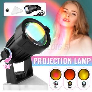 Rainbow Sunset Projection LED Light Lamp Table Night Light Decor Romantic USB