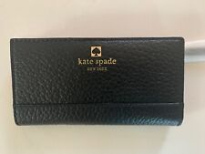 Kate South Southport Avenue Stacy Black Leather Cowhide Wallet NWT