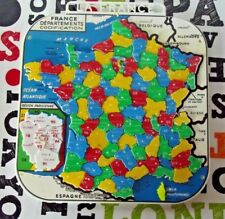 Ancien Puzzle de la France département plastique Mob. codification jeu éducatif