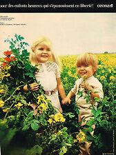 PUBLICITE  1971   OZONA   collection vetements enfants