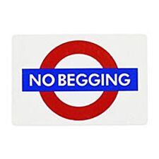 """No Betteln """" London Underground Roundel Klein Emaille 125mm X 75mm ( Gg )"""