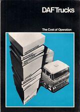 DAF Camion costo dell' operazione 1976-77 UK MARKET FOLDOUT SALES BROCHURE
