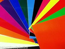Assortment of 15 Different Colors, Solid Gloss Vinyl Sheets,  8 x 12 inch