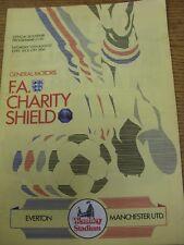 10/08/1985 FA Charity Shield: Everton v Manchester United [At Wembley] (Creased,