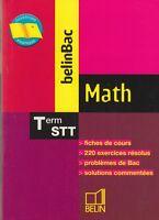 MATH / TERMINALE STT / J. CHADENAS / BELINBAC