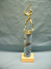 male Baseball trophies theme column cloud award wood base
