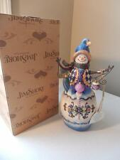 Jim Shore Winter's Tradition #112252 - Snowman with Ornaments - Musical