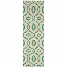 Safavieh Flat weave Wool Ivory/ Green 2' 6 x 12' Runner